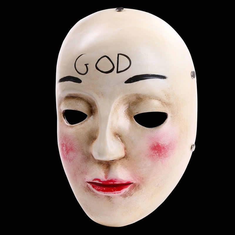 Чистки анфас Смола маска со страшным лицом фильм человека четкий план Бог Крест маскарадные маски на Хэллоуин Маскарадный костюм реквизит