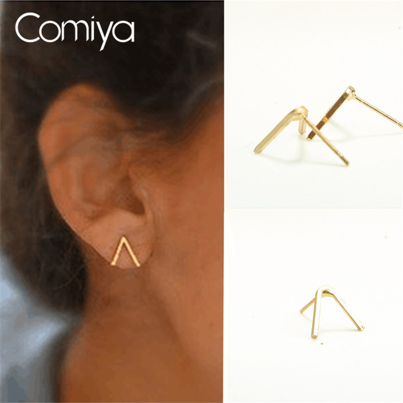 comiya golden plated branches earrings for women charming boucle d 39 oreille stud earring online. Black Bedroom Furniture Sets. Home Design Ideas