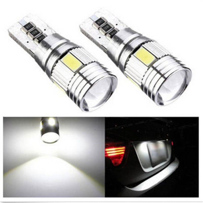 White High-Power Automotive LED Lights Show Wide Lights T10 5630 6SMD Universal Car Light-emitting Diode Lamp Decoding Bulb
