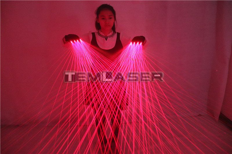 2 in 1 Multi line Red Laser Gloves With 4pcs 650nm 100mw Laser,Disco LED laser Gloves For LED luminous Costumes Show-in Glow Party Supplies from Home & Garden    3