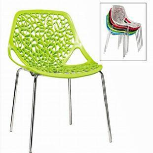 Thick ABS Plastic Chair Leaves Mesh Minimalist Modern Fashion Creative  Leisure Chairs Without Armrests Stackable