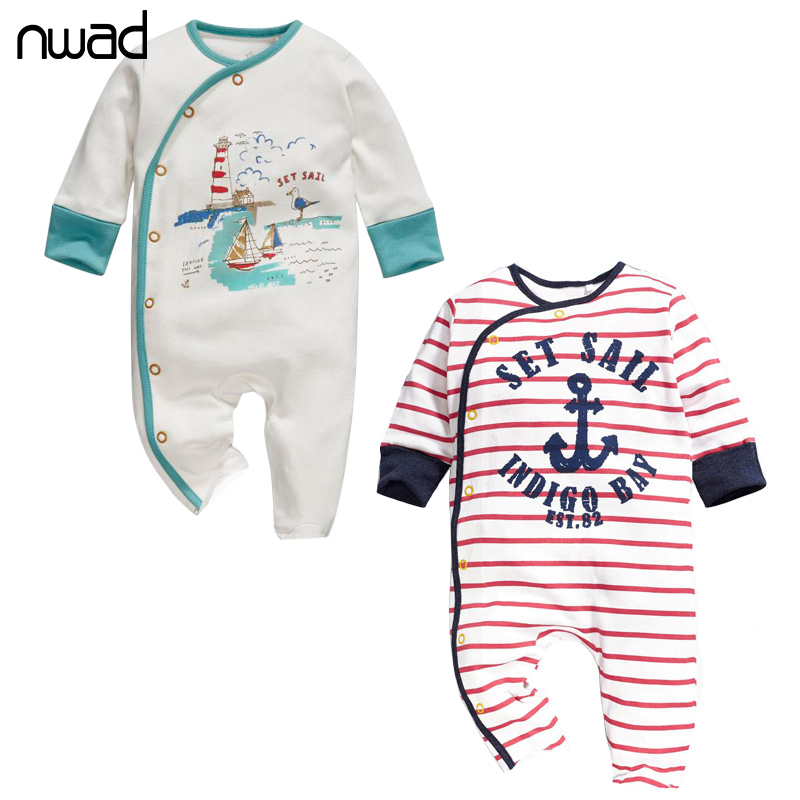 Striped Baby Girl Boy Romper 2017 Spring Autumn Cotton Clothing For Newborn Baby Long Sleeve Jumpsuit Baby Kids Rompers FF253 2016 cute baby rompers cotton long sleeve baby clothing overalls for newborn baby clothes boy girl romper ropa bebes jumpsuit