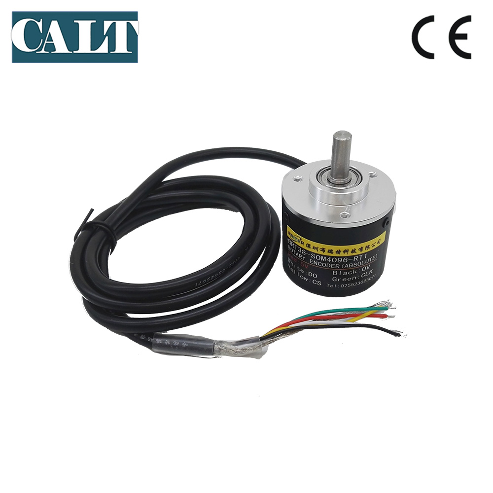 BRT38 S0M 6mm shaft Contactless 10bit 12bit SSI interface single turn angle measurement absolute rotary encoder