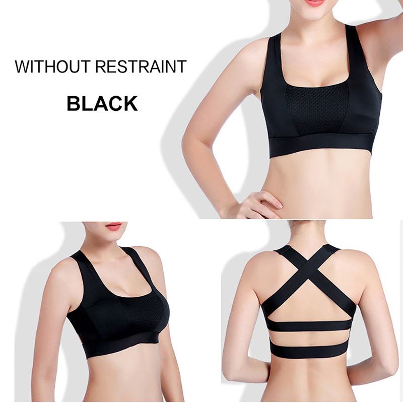 878fb9fe62a37 Cross Back Women Sports Bra For Running Gym Shakeproof Fitness Cropped Top  Exercise Yoga Bra-in Sports Bras from Sports   Entertainment on  Aliexpress.com ...