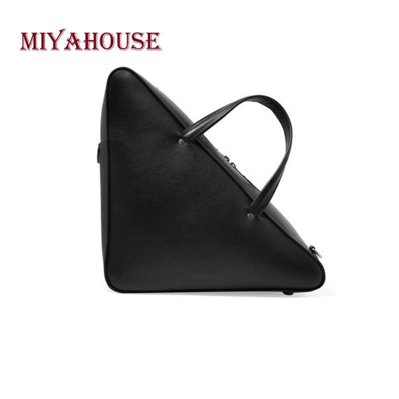 Miyahouse High Quality Fashion Handbag Solid Color Crossbody Bag For Female Korean  Style PU Leather Messenger c46f87214b3a3