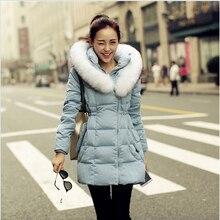 Korean Style Leisure Big yards Hooded Fur collar Jacket Elegant Slim Women Coat Fashion Thick Warm Duck down Down jacket G2340