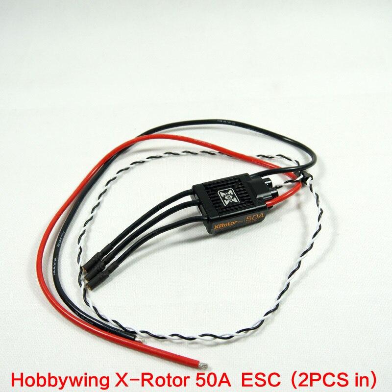 2 pièces Hobbywing Xrotor 50a quadrirotor moteur sans balai Esc moteur sans balai brossé bricolage Hexacopter Multicopter Hobbywing Xrotor 50a
