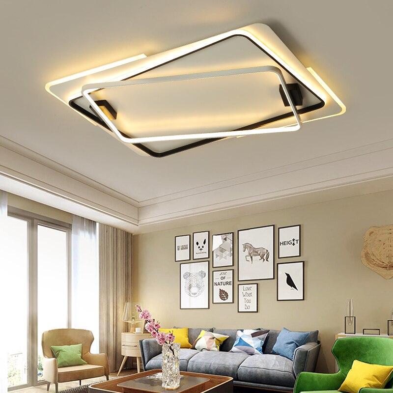 NEO Lueur Télécommande Moderne LED Lustre Pour Salon Chambre Salle D'étude Dimmable 110 V 220 V Plafond Lustre