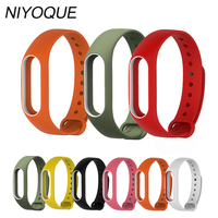 Colorful Strap Xiaomi Mi Band 2 Bracelet Strap Miband 2 Wristband Replacement Smart Band Accessories For Mi Band 2 Silicone