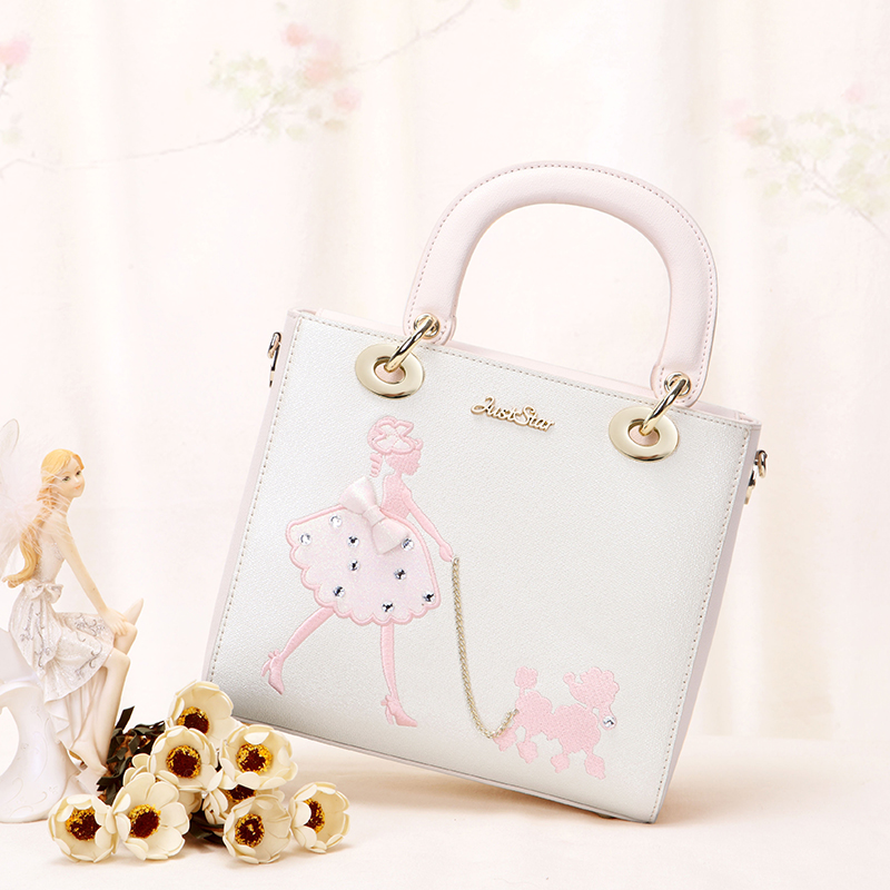 When the 2017 summer new Europe bag hand sewn embroidery handbag all-match bangalor drill small package. all summer long