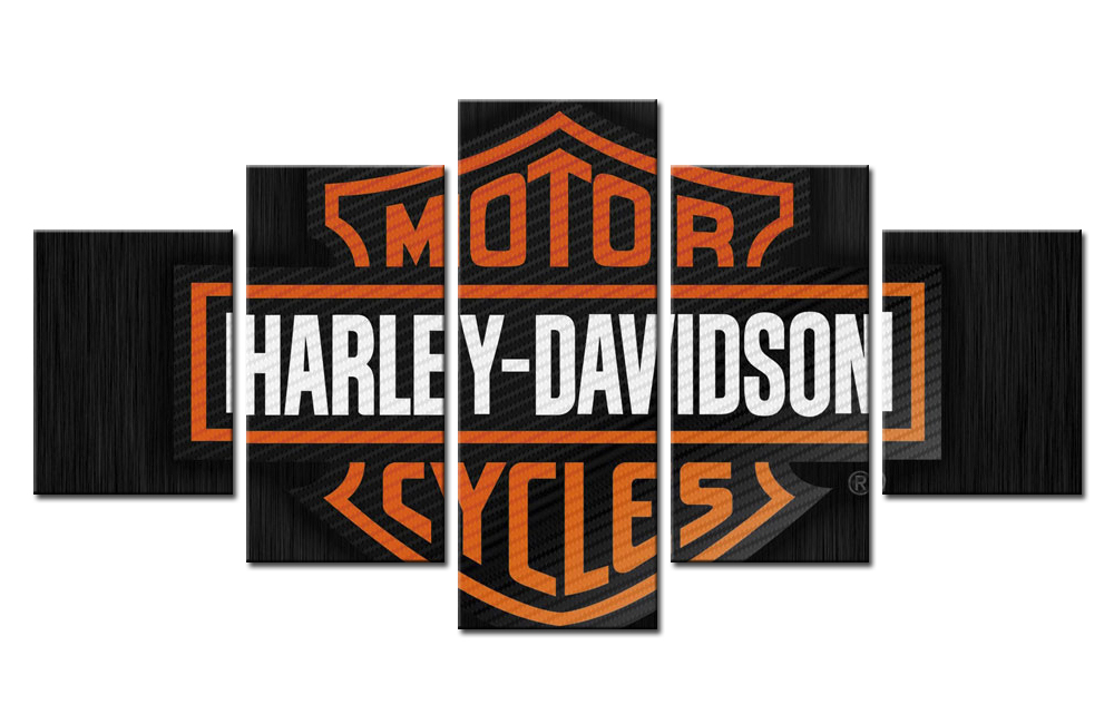 Aliexpress.com : Buy 5 Pieces Motor Harley Davidson Cycles Wall Art Picture  Home Decoration Living Room Canvas Print Wall Picture Printing On Canvas  From ... Part 52