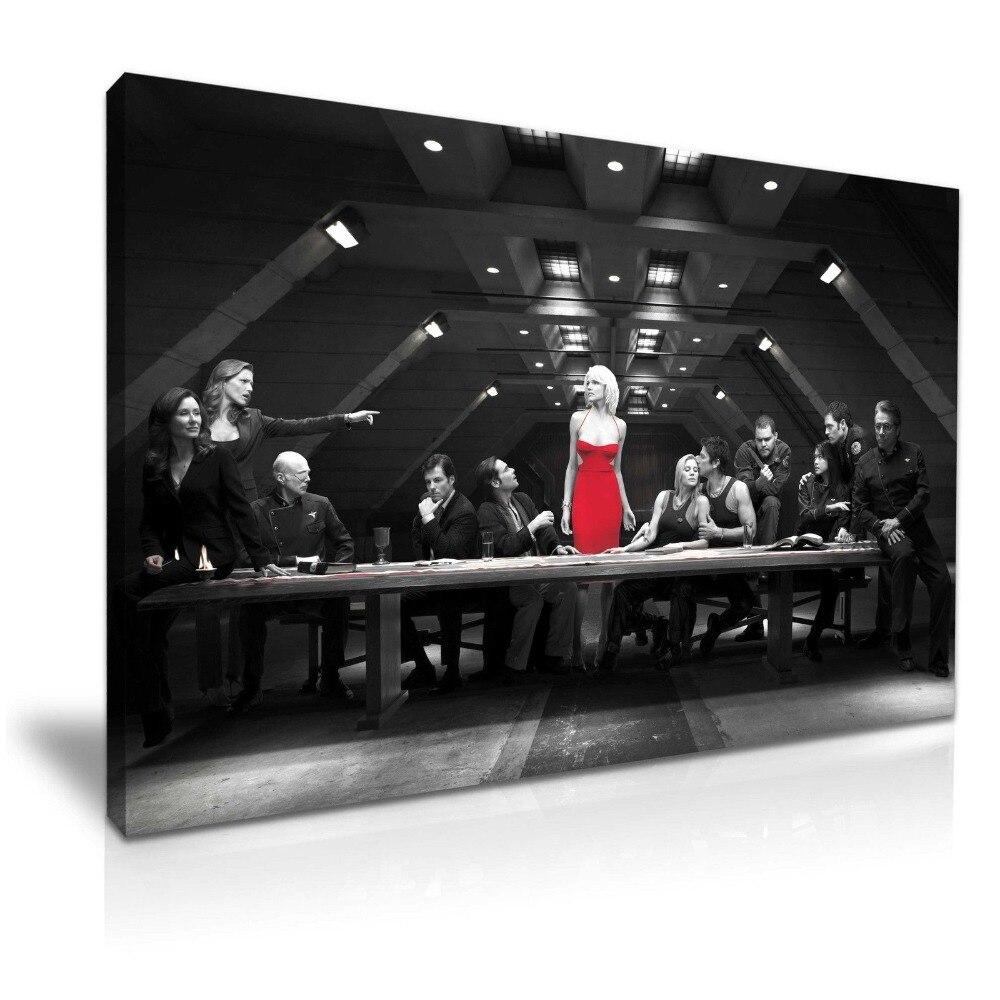 Battlestar Galactica Last Supper Canvas Wall Art Picture Print ~ 9 Sizes