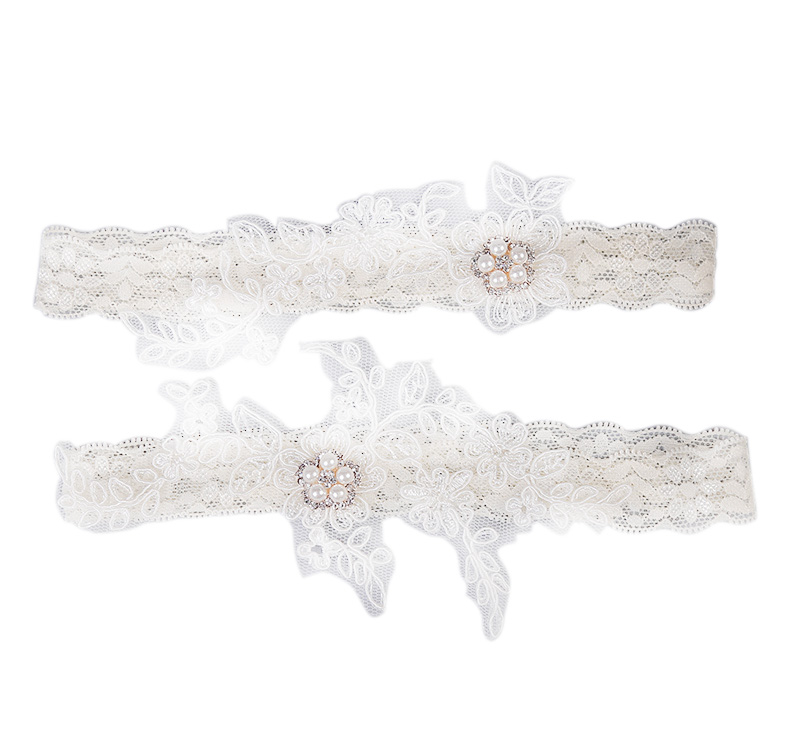 Women's Intimates New Hot Photo Studio Wedding Garter For Bride Hand Made Lace Flower Leg Garter Set For Ladies Do You Want To Buy Some Chinese Native Produce? Garters