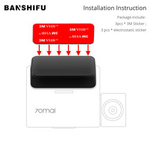 Original BANSHIFU Camera 3M Sticker Mounts Use For Xiaomi 70Mai Pro Dash Kamera DVR Holder With 3 PCS Static Electricity Sticker(China)