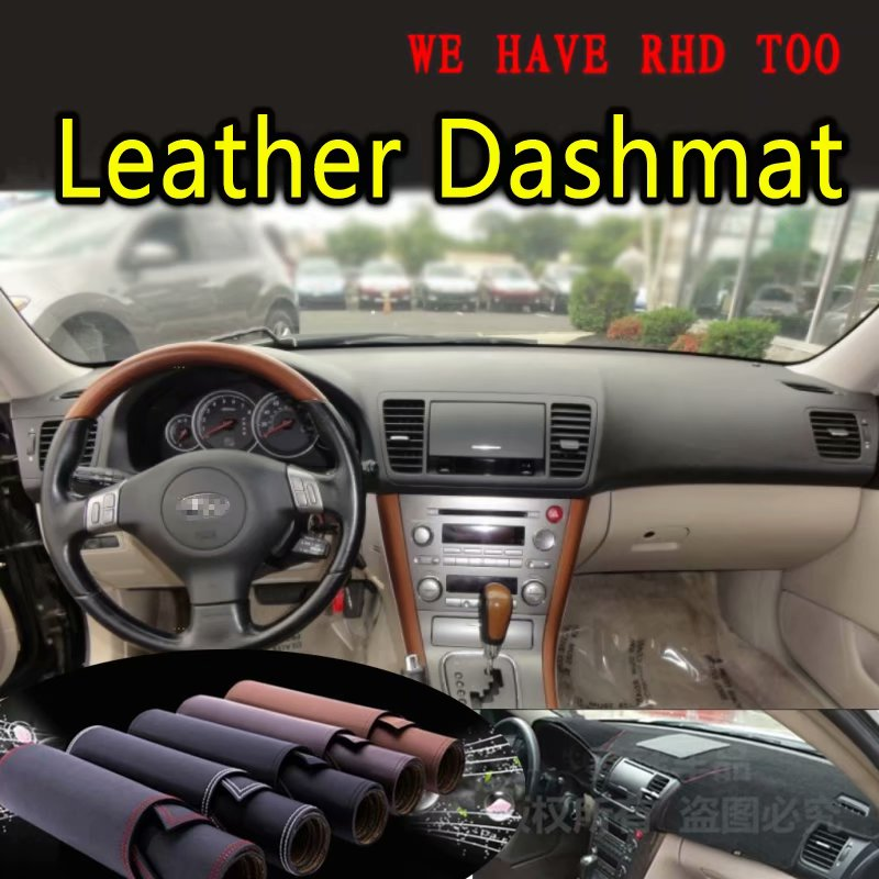 For Subaru Outback Legacy B4 2003 2004 2005 2006 2007 2008 2009 Leather Dashmat Dashboard Cover Dash Mat Carpet Car Styling