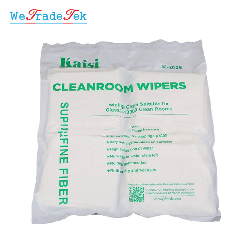 Soft 50Pcs 200Pcs/Bag Cleanroom Wiper Non Dust Cloth Dust Free Paper Phone LCD Repair Tool For Class 1-10000 Clean Rooms