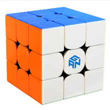 Gan356R 3x3 Magic Cube Educational Toys for Brain Training - Colorful surwish yj ruilong magnetic 3x3 magic cube educational toys for brain trainning colorful