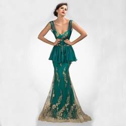 Модные милая уникальный спинки бисероплетение блестками русалка аппликации высокое качество CustomMade длинное платье ну вечеринку Vestido 2015