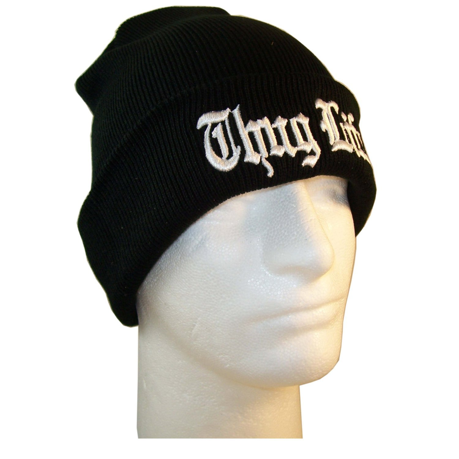 0bf38f4771a Europe and The United States Men and Women s Hip Hop Thug Life Embroidery  Knitted Wool Elastic Beanies Hat Ski Cap RX128-in Skullies   Beanies from  Apparel ...