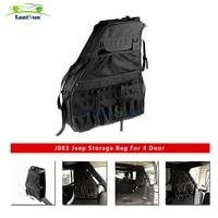 Pair J083 heavy duty black side storage bags for jeep wrangler jk 4 door 2007+ for auto products Lantsun