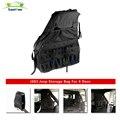 Pair lantsun J083 heavy duty black side storage bags fits jeep wrangler jk 4 door 2007+