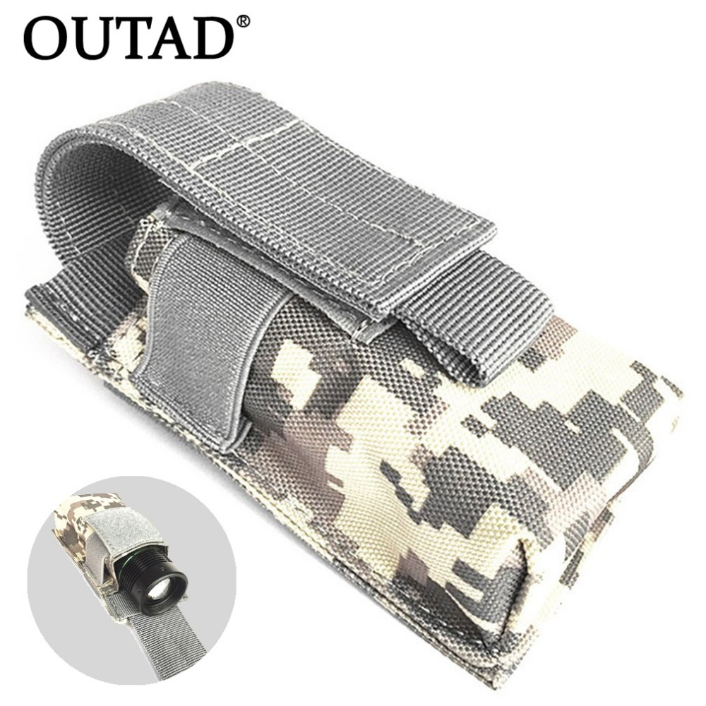 OUTAD Outdoor Flashlight Bag Waterproof Nylon Case Pouch Portable Tactical Pouch Small Waist Hunting Bag For Electronic Torch