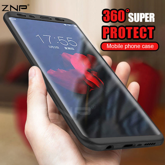 ZNP Soft TPU Silicone 360 Protected Full Cover Case For Samsung Galaxy S8 S8 Plus Phone Case For Samsung S8 Plus Protected Shell