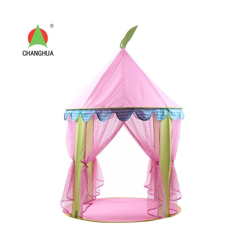 La Nouvelle Fille Enfants Jouet Tente Frappé Princesse Rose Paillettes intérieur et En Plein Air Jouer Tente Maison - 4