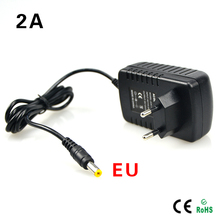AC 100V-240V Converter Adapter to DC12V 2A 24W LED Lighting transformer EU Plug 5.5mm x 2.1-2.5mm Output Interface