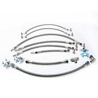 Кинугава Turbo Oil & Water Line Kit для Toyota 1JZ GTE 2JZ GTE/для hkss T3G/для garrett T25 Turbo