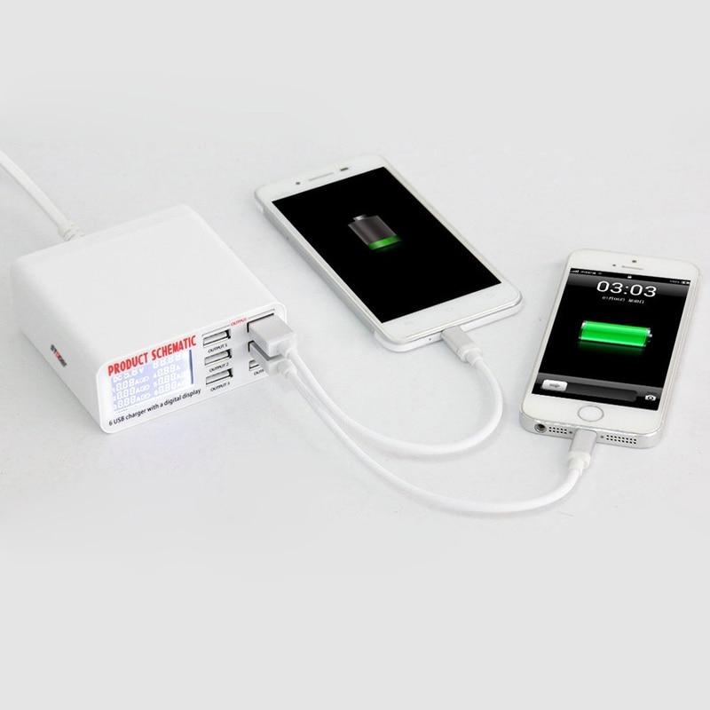 Φορτιστής USB INGMAYA 6 ακροδεκτών LCD - Ανταλλακτικά και αξεσουάρ κινητών τηλεφώνων - Φωτογραφία 5