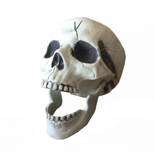 halloween skeleton skull life size realistic skull haunted house escape horror props decorations