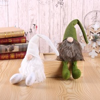 Hot Handmade Swedish Tomte Home Christmas Tree Ornaments Forest man Christmas Decorations Table Decor Birthday New Year Presents