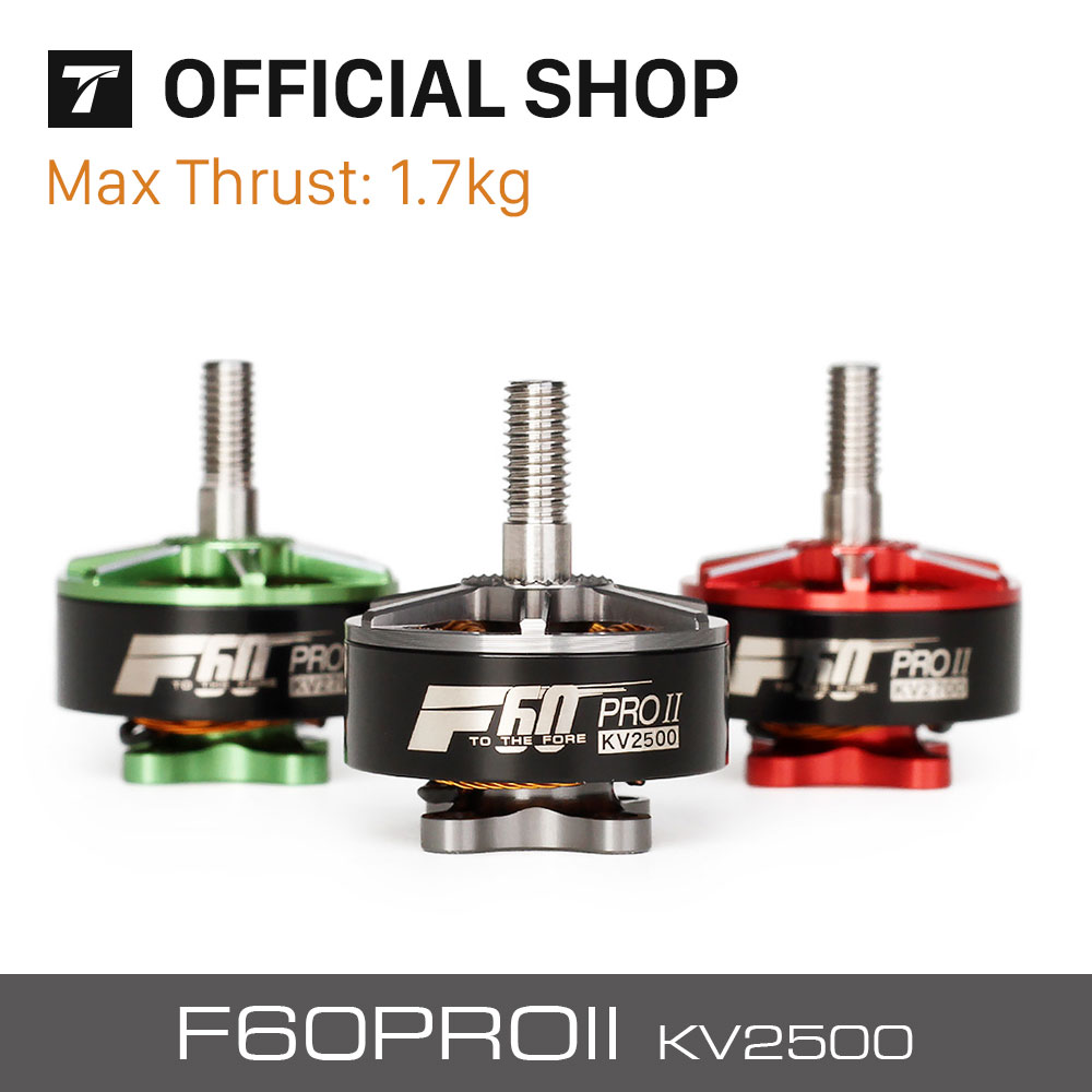 T-motor F60 PRO II 2500KV Grey New Series Brushless Waterproof Motor For RC Airplane Multicopter Drone x6210 kv320 24n28p agriculture drone brushless motor dustproof and waterproof thick line 1 pcs