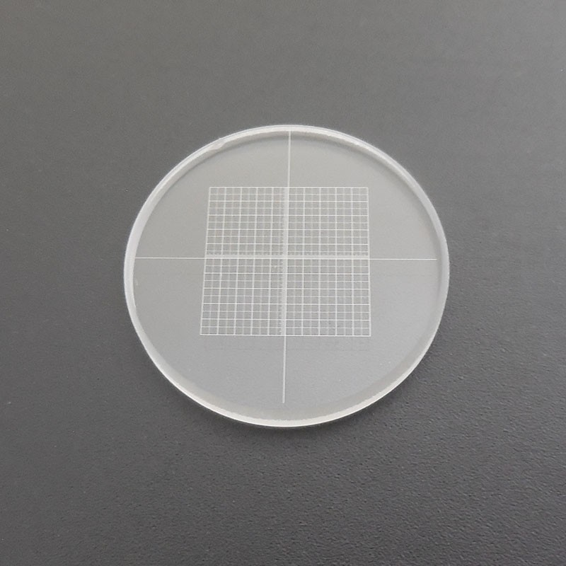 DIV0.05 Microscope Eyepiece Grid-micrometer Calibration Slides Measuring Glass for Microscopes