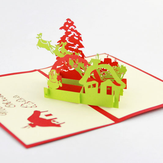 Qubiclife christmas flying stereo greeting card wholesale company qubiclife christmas flying stereo greeting card wholesale company custom in cards invitations from home garden on aliexpress alibaba group m4hsunfo