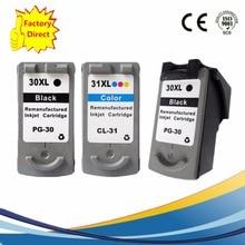 3 x PG-30 PG30 PG 30 CL-31 CL31 CL 31 Ink Cartridges For Canon Pixma iP1800 iP2600 MP140 MP210 MP470 MX300 MX310 Inkjet Printer