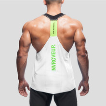 2017 high quality brand clothing men's bodybuilding fitness shark tank top stringer clothes sweatshirt stringer M L XL XXL(China)