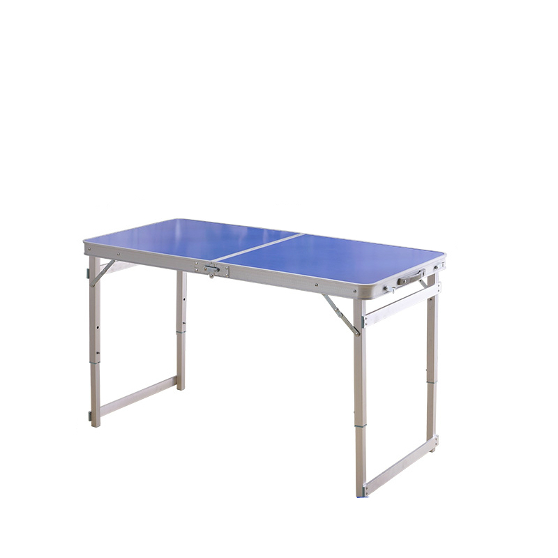 Outdoor Foldable Simple Table with Stool Portable Ultralight Metal Desk Multifunction Camping Dining Table with Handle Stable