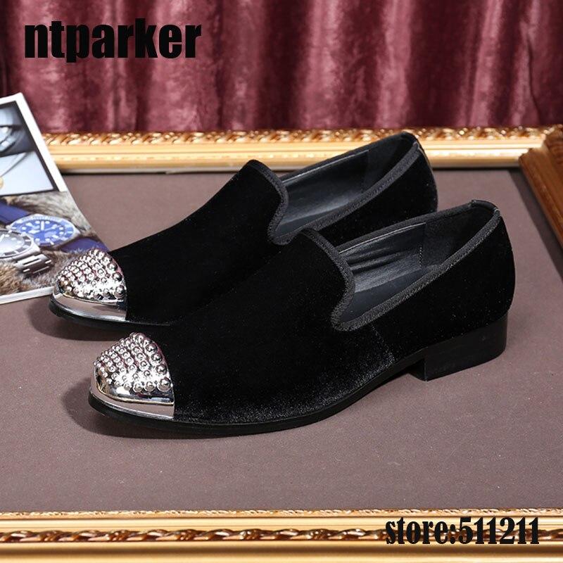 Luxe Taille Chaussures 46 Casual on Robe Formelle Hommes Mocassins Appartements De Eu38 Italien Ntparker Suede Slip Style Mariage Noir qUSMVzpG