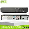 5 EM 1 CVI TVI AHD NVR 4Ch 8Ch 16Ch CVBS 1080N DVR segurança XVR 1080 P DVR Híbrido NVR Suporte Onvif P2P Gravador de Vídeo vista