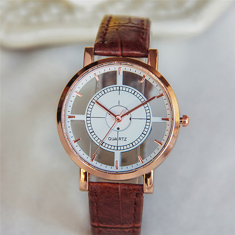 2018 Luxury Fashion Men Watches Quartz Women Neutral PersonalitySimple Analog Wrist Delicate Unique Hollow Watch Luxury Busines adjustable wrist and forearm splint external fixed support wrist brace fixing orthosisfit for men and women