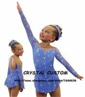 Обувь для девочек Фигурное катание на коньках Платья для женщин Изящные новый бренд соревнования по фигурному катанию платье dr4109