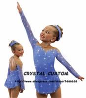 Girls Figure Ice Skating Dresses Graceful New Brand Figure Skating Competition Dress DR4109