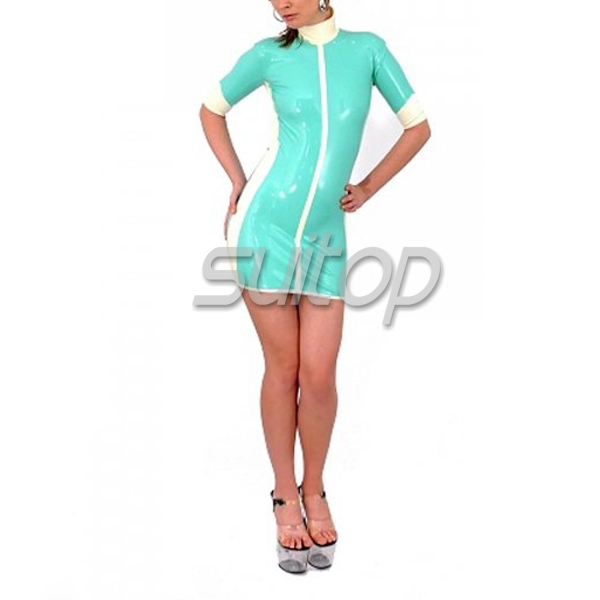 Une En Robe Pièce Robe Seule Latex robe Caoutchouc Unifrom RgxRv