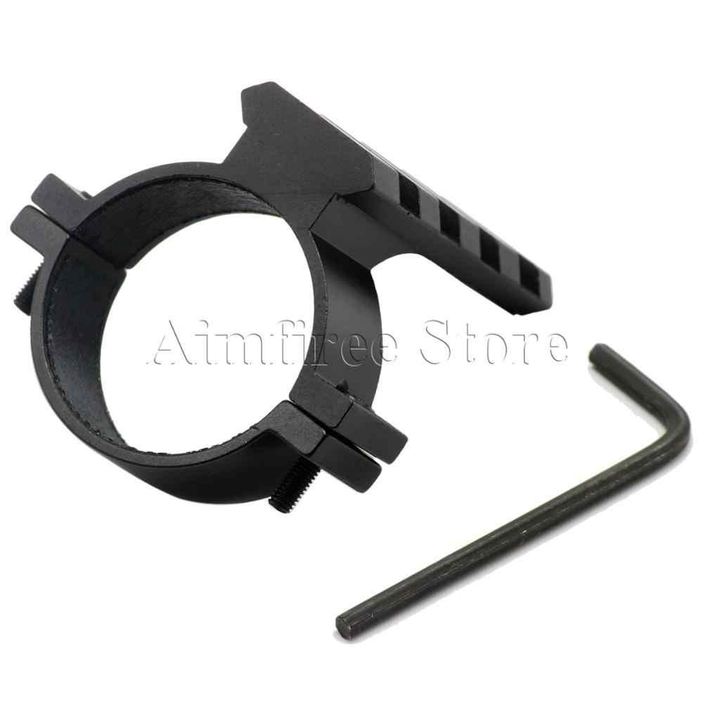 Tactial 35mm היקף טבעת חבית פנס הר מתאם עם 20mm יבר Picatinny רכבת לציד