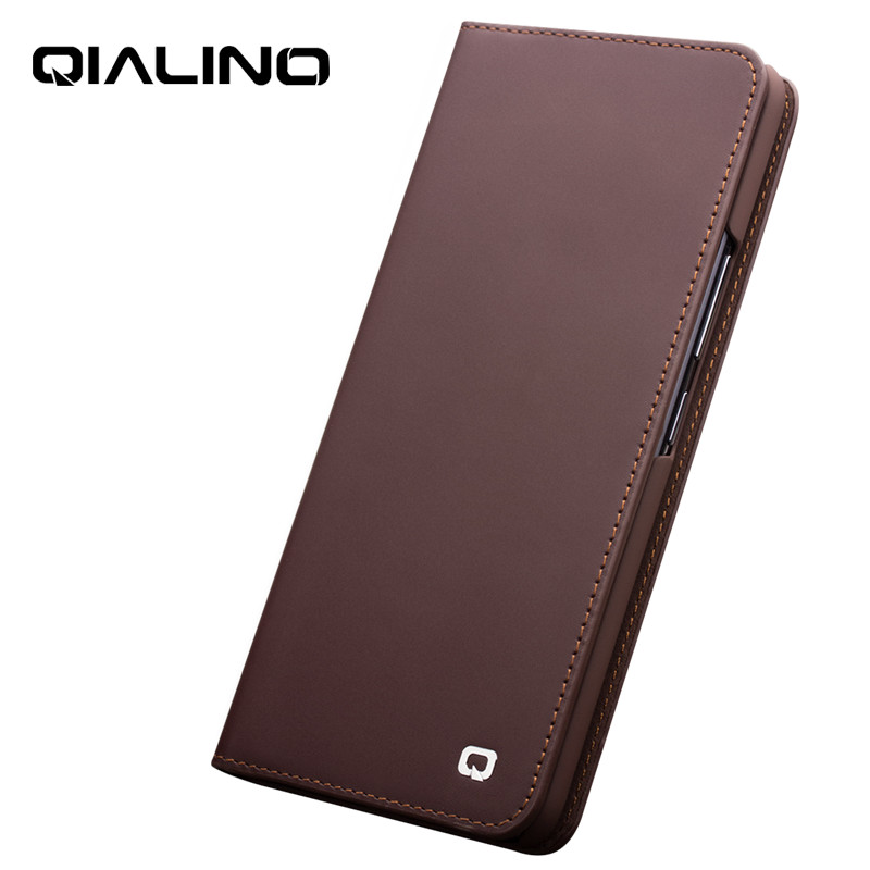 QIALINO Genuine Real Leather Stylish Flip Case for Vivo NEX Business Handmade Luxury Cover with Card Slots for NEX 6.59 inch