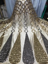 5yards/pcs high quality African sequins lace fabric with for attractive dress SU-J19102