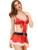 ENFEITAR Natal Lingerie Erótica das Mulheres Vermelho Vestido Babydoll Sleepwear Underwear Roupa Uniforme Sexy Trajes Cosplay