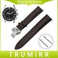 18mm 20mm 22mm watch band butterfly fivela de liberação rápida cinta para homens mulheres genuínas da correia de couro breitling pulseira marrom preto